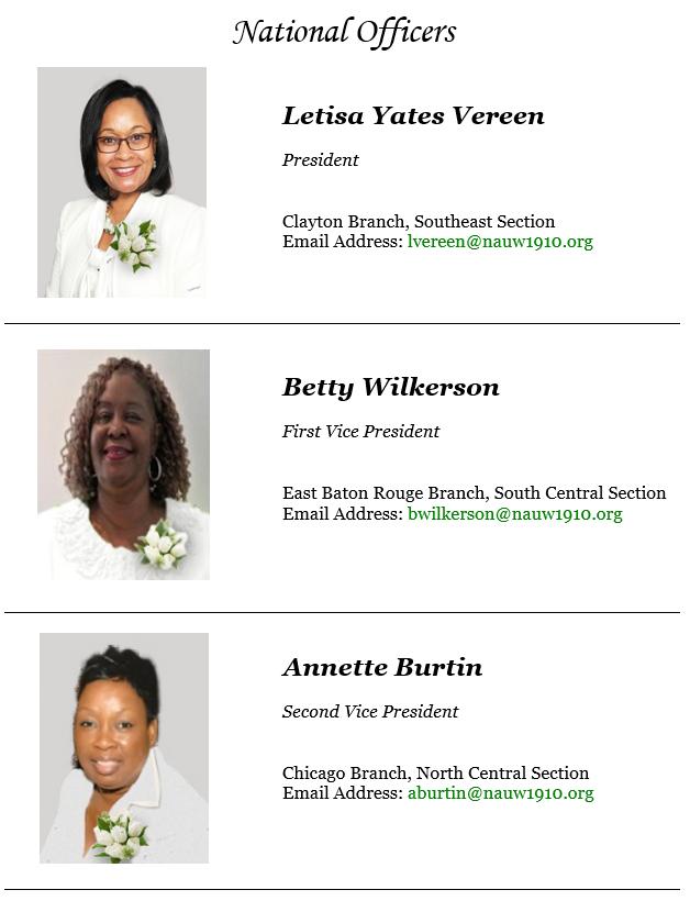 National Officers – National Association of University Women